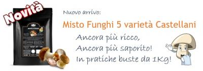 NOVITA': Misto  Funghi 5 varietà